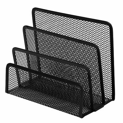 Practical Mesh Metal Letter Mail Document Organizer Storage Holder Black UXXH