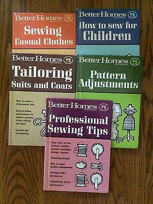 Lot of 5 Better Homes and Gardens Sewing Books - 1966 Hardcover