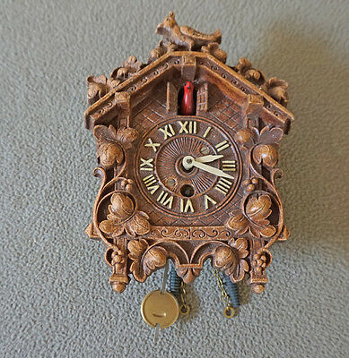Vintage LUX MINIATURE CUCKOO CLOCK AS IS Patents Pending USA