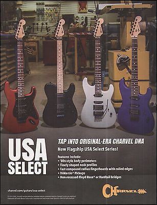 The Charvel Flagship USA Select Series electric guitar ad 8 x 11 advertisement
