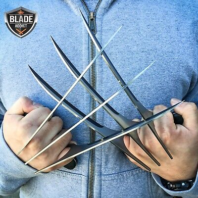 2PC New X-Men Wolverine LOGAN Blade Claws High Quality of Refinement Cosplay -S