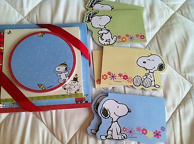 Snoopy Post It Notes Sets Christmas Notepad Pen