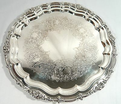 RARE Canada SILVER Plate Liquor Serving TRAY William Maurice Carmichael 12 3/4""