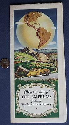 1930-40s New Jersey Standard Oil & Gas Service Station Pan American Highways map
