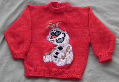 Olaf Frozen  Size 2  New Handknitted 100% Acrylic