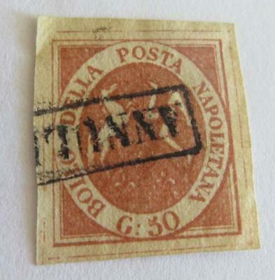Italy 1858 Naples 50g used