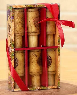Wine Lover 6-Pc Merlot Chardonnay And Sparkling Grape Scented Wine Cork Candles