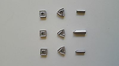9Pce Replacement Indexable Carbide Tip (20mm)