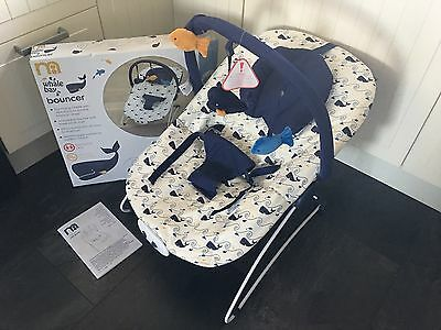 Mothercare Whale Bay Baby Bouncer - Boxed & Hardly Used