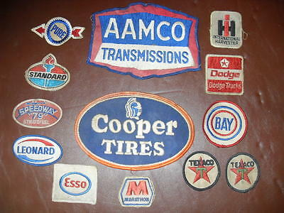 Vintage Gas Station Attendant Patches (lot of 13)