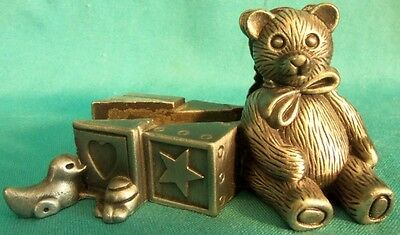 Pewter NURSERY TOYS Picture Plaque Holder WONDERFUL DETAILS