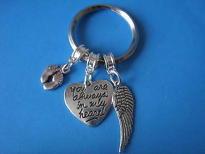 In Memory of Baby Keyring Bereavement In Sympathy of Baby Loss Angel Wing