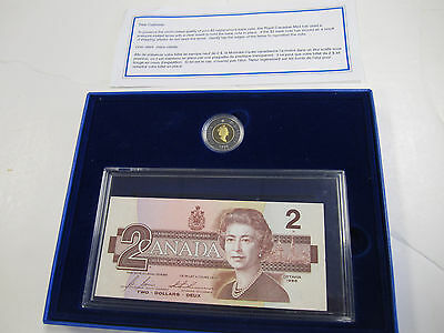 1986 Canada Two 2 Dollars BRX Replacement Note Uncirculated Banknote w/ $2 Coin
