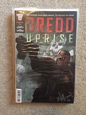 2000 Ad Judge Dredd Uprise Signed Ben Willsher Issue 1 Of 2 First Print