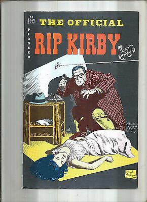 The Official Rip Kirby #4  Alex Raymond  Pioneer  1988  Nice!!!