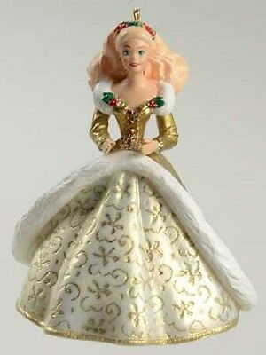 1994 Holiday Barbie Hallmark Ornament #2 Gold Sequin Dress
