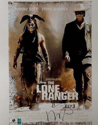 Johnny Depp Hand Signed Autograph 8x10 Photo Sexy The Lone Ranger GA719975