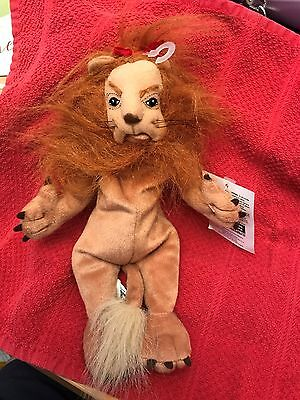 WB Wizard of Oz LION- Bean Bag Plush NWT - 10""