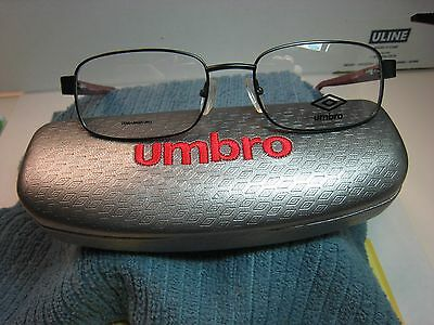 9a6c9b0d4ca Umbro Eyeglasses Frame U142 Brown 52-18-135 Demo With Case Authentic