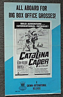 CATALINA ISLAND CAPER original 1967 movie pressbook SCUBA DIVING