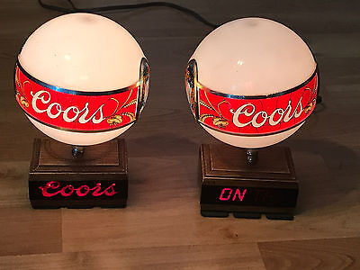 Vintage Coors On Tap Bar Table Display Lights