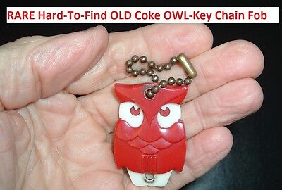 RARE Coca Cola Soda Pop Old COKE OWL KEY HOLDER FOB 1950's NEAT!! Advertisement