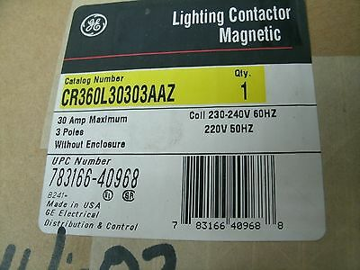 Ge Lighting Contactor Cr360L Cr360L30303Aaz 30 Amp Coil 230 V 3 Pole New