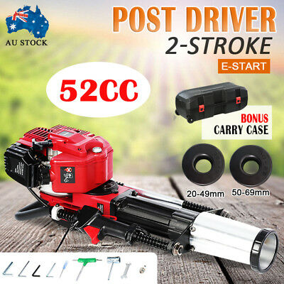 Petrol Post Driver 52cc 2-Stroke Pile Star Picket Rammer Fence 1700W Y Post EPA