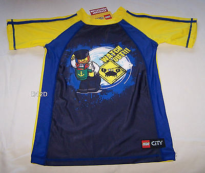 Lego City Boys Blue Yellow Printed Rash Vest Size 5 New
