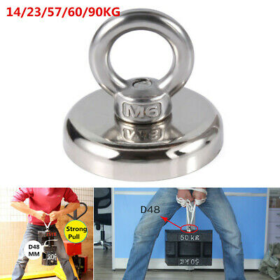 200KG Salvage Strong Recovery Magnet Neodymium Hook Treasure Hunting Fishing