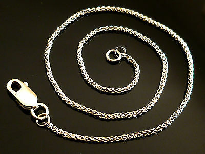 "9ct Solid White Gold Braided Rope Ladies Womens Chain Anklet - 24cm's 9.5"" AB13"
