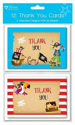 Pack of 20 Boys Pirate Thank You Sheets and Envelopes by Carlton Cards