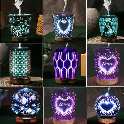 3D Night Light Ultrasonic Aroma Diffuser Essential Oil Humidifier Aromatherapy