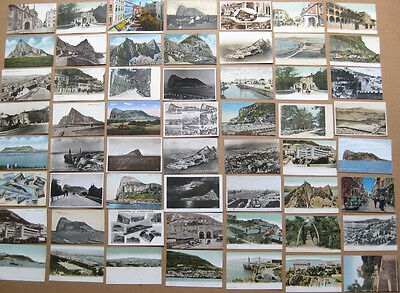 GIBRALTAR Job Lot of 56 x Old Postcards