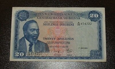 1968 Central Bank of Kenya Twenty Shillings Note!