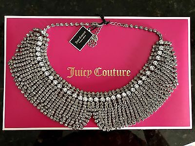 NWT Juicy Couture N Crystal Rhinestone Collar Necklace $150