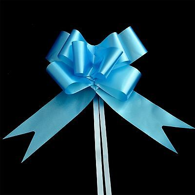 50mm Large 30 Pull Bow LIGHT BLUE Ribbons Wedding Floristry Car Gift Decorations