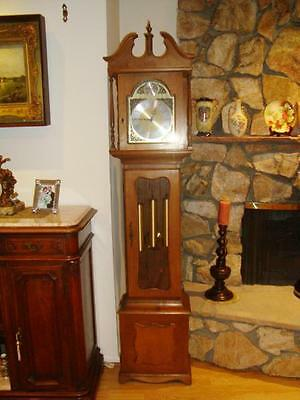 Vintage Germany Grandfather Clock with Westminster Chime-Works GREAT!