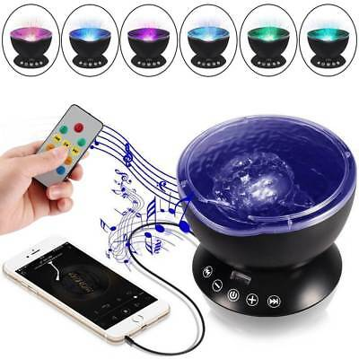 Relaxing LED Light Projector Music Ocean Wave 2 in 1 Night Remote Lamp For Kids