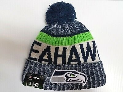 08cfe72c7 Seattle Seahawks New Era Knit Hat On Field 2017 Sideline Stocking Beanie Cap  NFL