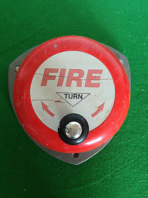 Vintage ,'hand cranked' fire alarm bell full working condition - Fire Alarm Bell