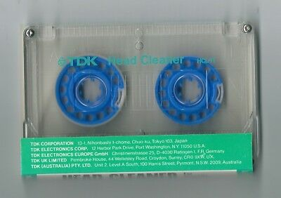 Vintage TDK HCL 11 Audio Cassette Tape Head Cleaner