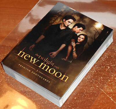 Twilight New Moon Photocards ~ COMPLETE 71-CARD BASE SET +checklist ~ Topps UK