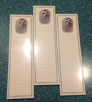 MALTESE Dog Magnetic To Do Memo Pad ~NEW LOT of 3~ Discontinued Item Almost Gone