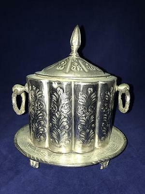Antique Handmade Etched Moroccan SILVER TEA CONTAINER BOX Tribal Tuareg Berber