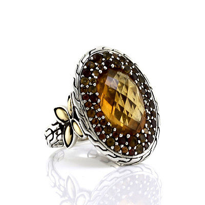 John Hardy Batu Kawung Ring in Sterling Silver and 18K Yellow Gold | FJ