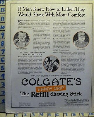 1919 Colgate Tooth Paste Shave Stick Barber Health Hygiene Lather   H44