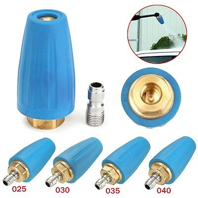 3000PSI 1/4'' Quick Connect High Pressure Washer Rotating Spray Turbo Nozzle Tip