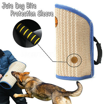 Durable Jute Bite Arm Sleeve For Young Police Dog Walking Training Protection
