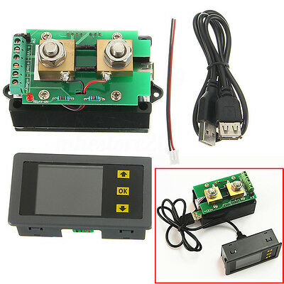 VAC1100A DC 120V 100A Voltmeter Ammeter Power Meter Capacity Coulomb Counter Kit